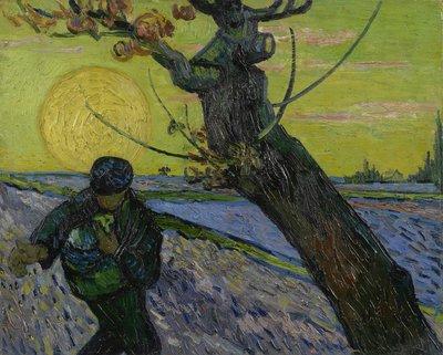 De Zaaier Van Gogh Museum olieverf reproductie, 1888