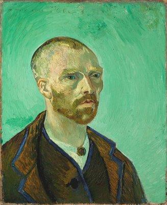 Zelfportret opgedragen aan Gauguin Van Gogh reproductie, 1888