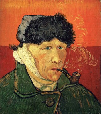 Zelfportret met Verbonden Oor Van Gogh reproductie, 1889