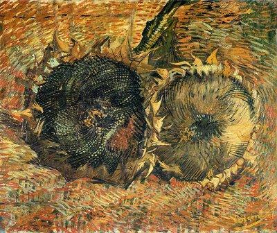 Twee Afgesneden Zonnebloemen Van Gogh reproductie, 1887