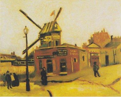 De Moulin de la Galette, Van Gogh reproductie, 1886