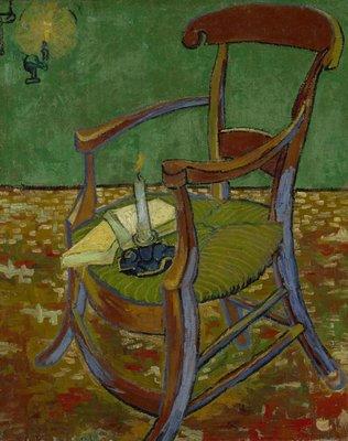 De Stoel van Gauguin Van Gogh reproductie, 1888
