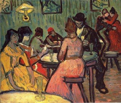 Het Bordeel Van Gogh reproductie, 1888