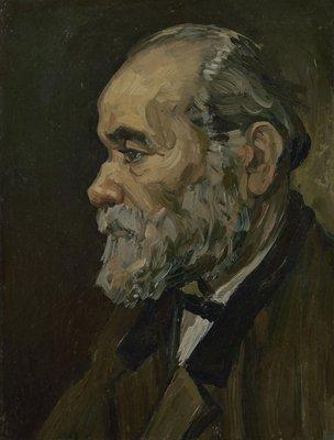 Portret van een Oude Man Van Gogh reproductie, 1885