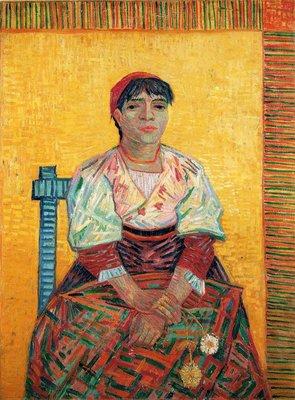 Italiaanse Vrouw Van Gogh reproductie, 1887