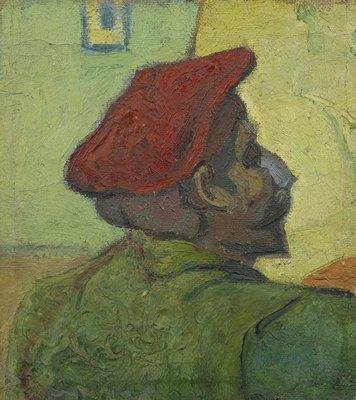 Gauguin, Man met Rode Baret Van Gogh reproductie, 1888