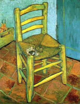 Vincents Stoel met Pijp Van Gogh reproductie, 1888