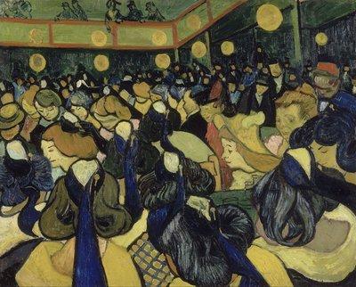 De Danszaal in Arles Van Gogh reproductie, 1888