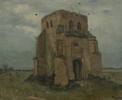 De Oude Kerktoren van Nuenen Van Gogh reproductie, 1885