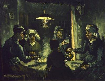 Aardappeleters Kroller Muller Van Gogh reproductie, 1885