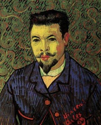 Portret van Dr. Felix Rey Van Gogh reproduction, 1889