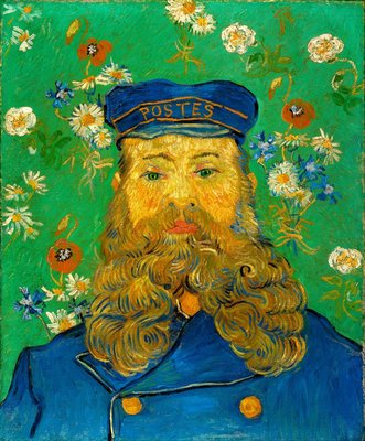 Portret van Joseph Roulin Kroller Muller Van Gogh reproductie, 1889