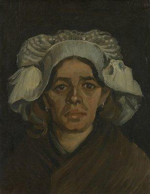 Kop van een Vrouw Van Gogh reproductie, 1885