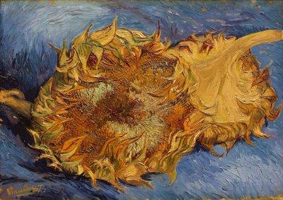 Twee Afgesneden Zonnebloemen The Met Van Gogh reproductie, 1887