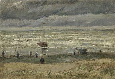 Zeegezicht bij Scheveningen Van Gogh Reproductie, 1882