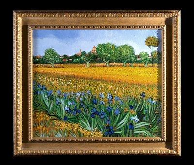 Veld met Irissen bij Arles door Geert Jan Jansen