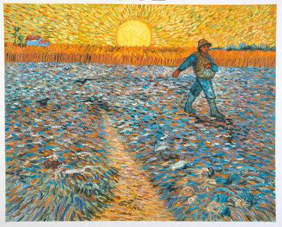 De Zaaier Van Gogh reproductie, 1888
