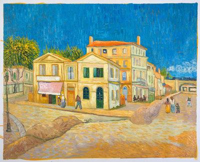 Het Gele Huis Van Gogh reproductie, 1888