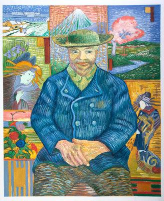 Portret of Père Tanguy Van Gogh reproductie, 1887