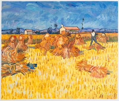 Oogst in de Provence Van Gogh reproductie, 1888