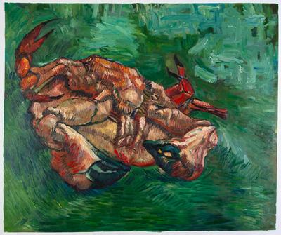 Krab op z'n Rug Van Gogh reproductie, 1889