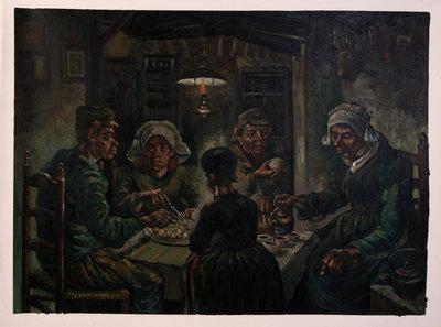 De Aardappeleters Van Gogh reproductie, 1885