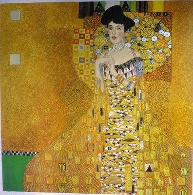 Portret van Adele Bloch Bauer Klimt reproductie, geschilderd in olieverf op doek