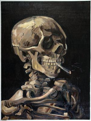 Schedel met Brandende Sigaret Van Gogh reproductie, 1886