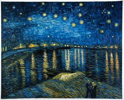 Sterrennacht boven de Rhone Van Gogh reproductie, 1888