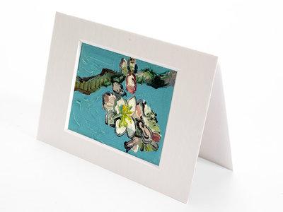 Amandelbloesem mini schilderij, geschilderd in olieverf op doek