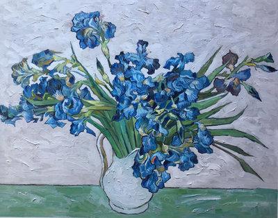 Vaas met Irissen Van Gogh reproductie, 1890