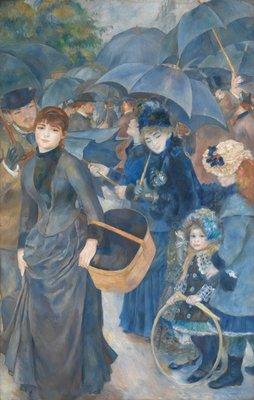 De Paraplus Renoir reproductie, geschilderd in olieverf op doek