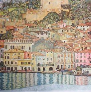 Lake Garda Gustav Klimt reproduction