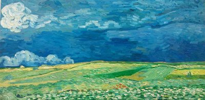 Wheat Field under Thunderclouds Van Gogh reproduction