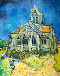 The Church at Auvers Oil Painting Reproduction