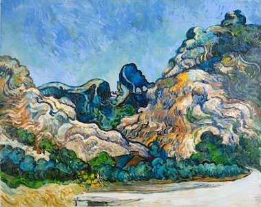 Mountains at Saint-Rémy Van Gogh reproduction