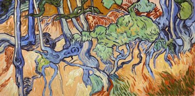 Tree Roots Van Gogh reproduction in oil on canvas