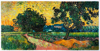 Landscape at Twilight Van Gogh Reproduction