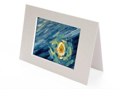 Sterrennacht mini schilderij, geschilderd in olieverf op doek
