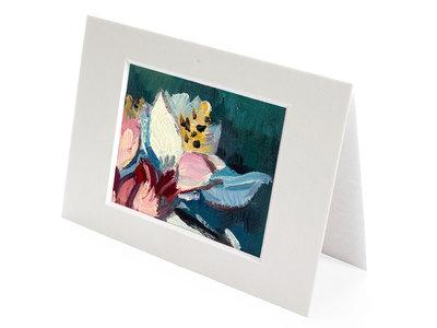 Amandeltak mini schilderij, geschilderd in olieverf op doek