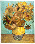 Vase With Twelve Sunflowers Van Gogh reproduction