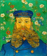Portrait of the Postman Joseph Roulin Kröller-Müller Van Gogh reproduction